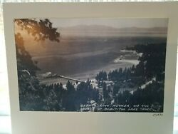 Vintage Copy 1820 Photograph Zephyr Cove Nevada Lake Tahoe Frashers fotos calif $9.99