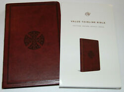 ESV Bible Brown Imitation Leather Cover English Standard Version Thinline $14.49