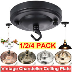 Vintage Ceiling Hook Plate Holder Iron Pendant Roof Lamp Sucking Disk Home Decor $13.73