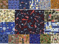 100% Cotton Fabric Military & Patriotic Variety of Choices by the Yard $4.50