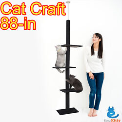 Cat Tree 3 Tier Floor to Ceiling Carpet Tower House Condo Furniture Post Scratch $56.70
