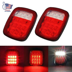 2PCS Square Stop Turn Tail backup LED marker Lights for trailer Jeep Semi Truck $35.17