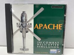 Apache The Combat Helicopter Simulator PC CD Interactive Magic 1994 ROM GREAT $7.99