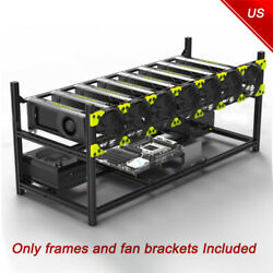 8 GPU Miner Case Aluminum Stackable Mining Case Rig Open Air Frame For Ethereum $22.99
