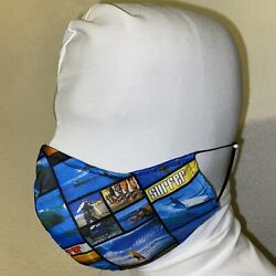 Adult Size Surfer Beach Washable Face Mask Adjustable Nose Three Layer $14.99