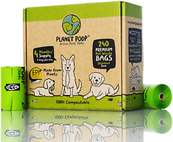 Dog Waste Poop Bag Compostable Biodegradable 9quot; x 13quot; 16 refill Rolls 240 Count $43.99