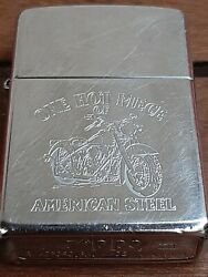 Zippo American Steel One Hot Piece Motorcycle Marked $30.00