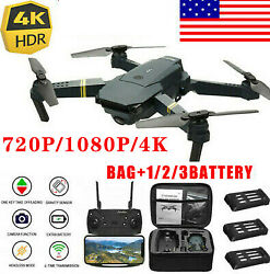 E58 Drone X Pro WIFI  4K HD Camera 1-3Battery Foldable Selfie 2.4G RC Quadcopter $36.99