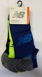 New Balance Strategic Cushioned NO SHOW multi color large Socks 3 Pack $15.00