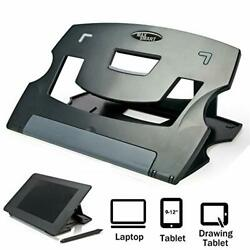 Tablet Drawing Stand Laptop Riser Book Reading Foldable Portable 6 Angles Gray $29.99
