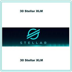 30 Stellar-Lumens (30 XLM) CRYPTO MINING-CONTRACT Crypto Currency $3.69