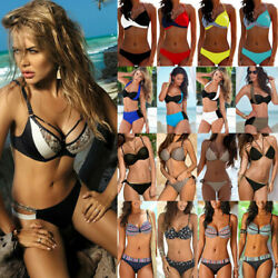 Womens Padded Bikini Set Swimsuit Push-up Bra Swimwear Bathing Suit Beach Wear $11.87