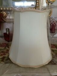 Today's Fashion Shades Tall Bell Lamp Shade Beige Scalloped Edge 9 x 14