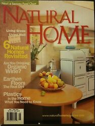 Natural Home magazine may june 2003 $3.00