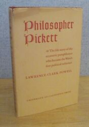 PHILOSOPHER PICKETT by Lawrence Clark Powell 1942 UCLA Author INSCRIBED
