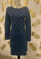 Black And Blue Classy Long Sleeve A Line Fit Dress Size S $15.00