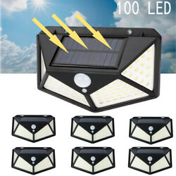Waterproof 100 LED Solar Power Lamp Outdoor Garden PIR Motion Sensor Wall Light $7.99
