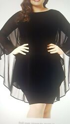 Urchics Womens Casual Chiffon Overlay Plus. Cocktail Party Knee Length Dress XL $10.00