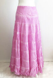 $98 NEW FREE PEOPLE stuck in a moment razzleberry pink maxi long boho skirt med $49.00