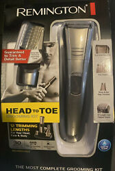 Remington Trimmer Shaver Clippers HEAD To TOE Grooming Kit W Charging Stand NIB $44.99
