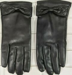 Vbiger Womens Gloves Leather Black S M $10.00