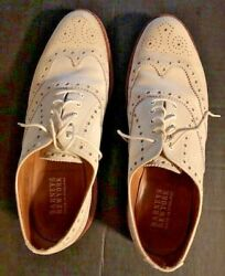 Barney's of New York men's white shoes 1985 England +Polo Ralph Lauren covers!! $118.75