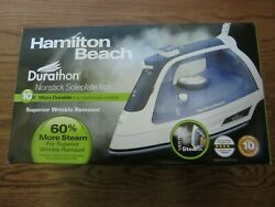 NEW HAMILTON BEACH DURATHON NONSTICK SOLEPLATE IRON 19800 $26.95