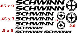 SCHWINN BICYCLE VINYL CUT DECALS 12 for $13.99 FREE SHIPPING CHOOSE COLOR $13.99