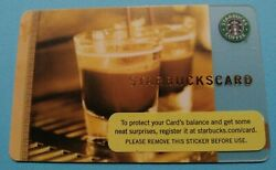 Starbucks gift card 2006 quot;COFFEE AS ART DOUBLE SHOTquot; OLD LOGO HTF NO VALUE $4.30