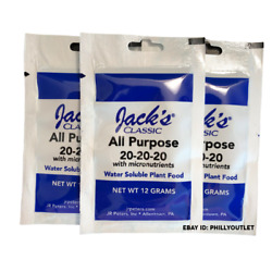 Jack's Classic Fertilizer 3 Pack All Purpose 20 20 20 Water Soluble Plant Food $4.99