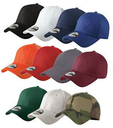 New Era 39Thirty Stretch Cotton Fitted Hat NE1000 - Choose Size and Color $13.95