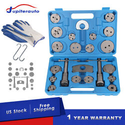 25Pcs Universal Disc Brake Caliper Tool Piston Pad Wind Back Hand Kit W Gloves $20.88