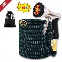 50ft Expandable and Flexible Garden Water Hose with 4 Layered Latex 9 $18.99