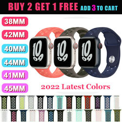 For Apple Watch Sport Band Silicone iWatch Series 5 4 3 2 1 40mm 44mm 38mm 42mm $5.48