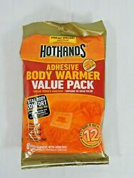 Hothands Adhesive Body Warmers Value 8 Pack Up To 12 Hours Heat EXP 723 NEW   $11.99