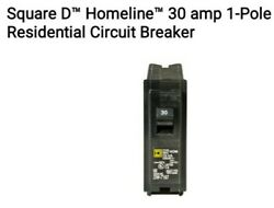 NEW! Square D 30A Homeline HOM130CP Single or 1 Pole 30 Amp Circuit Breaker. $9.55