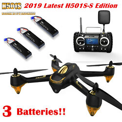Hubsan H501S S Pro Brushless Drone 5.8G FPV RC Quadcopter 1080P GPS RTF+3Battery $188.00