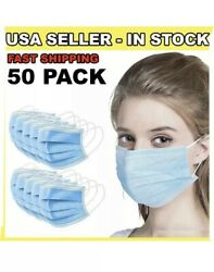 [SHIP FROM USA] Protective Face Mask (50PCS). INDIVIDUAL PACK. $13.99