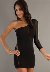 Brand New Luxury Women Sexy Holiday Bodycon Evening Party Cocktail Black Dress $26.12