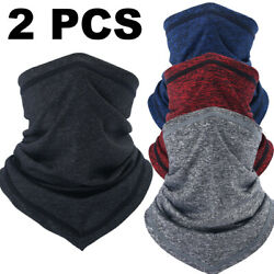 2PCS Summer Face Cover Bandana Sun UV Protection Neck Gaiter for Cycling Fishing $12.98