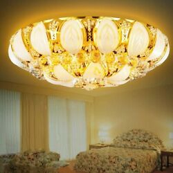 Luxury Crystal Chandeliers Modern Flush Mount Ceiling Light Pendant Lamp Fixture $130.19