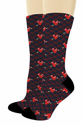 Couples Gifts Arrow Heart Socks Valentines Day Gifts for Men Novelty Crew Socks $20.99