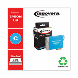 Remanufactured Cyan Ink Replacement For Epson 69 T069220 350 Page Yield $9.81