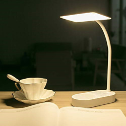 2 Batteries USB Rechargeable Powered Desk Table Lamp 3 Colors Brightness Read... $24.93