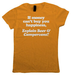Beer & Campervans Womens Funny T Shirt - Gift Her Mum Splitty Bay Window T25 $17.50
