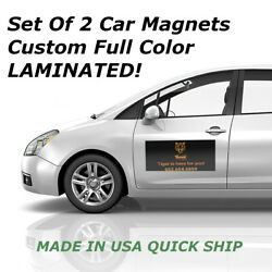 Custom Car Magnets Magnetic Auto Truck Signs 2 12x24