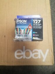 NEW!! EPSON 127  3 COLOR COMBO T127520  EXP DEC 2022 Free Shipping $47.55