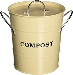 BE ECO FRIENDLY Shabby Chic Style Beige 1 gal Countertop Compost Bucket $69.00