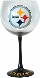 Pittsburgh Steelers NFL Hand Painted Balloon Cocktail Red Wine Glass 20 oz USA $28.00