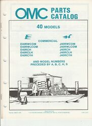 395675 OMC Evinrude Johnson 1985 Outboard 40 HP Commercial Parts Catalog